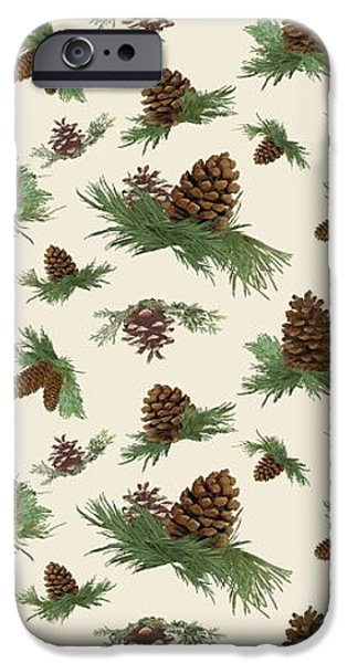 Mountain Lodge Cabin In The Forest - Home Decor Pine Cones IPhone Case by Audrey Jeanne Roberts