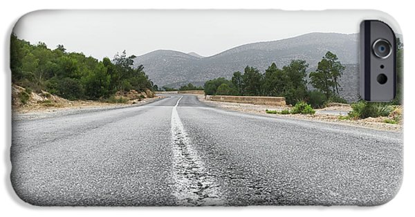 Mountain Road IPhone Case by Tom Gowanlock