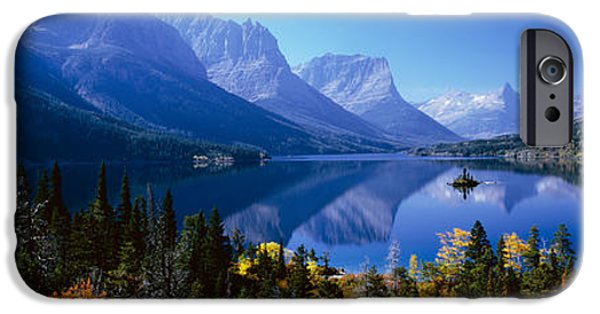 Mountains Reflected In Lake, Glacier IPhone Case by Panoramic Images