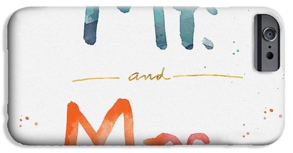 Mr And Mrs IPhone Case by Linda Woods