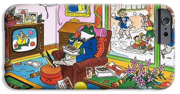 Mr Toad Watching Television IPhone Case by English School