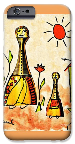 Mrs Cologne And Her Daughter IPhone Case by Sarah Loft