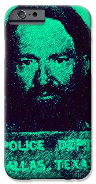 Mugshot Willie Nelson P28 IPhone Case by Wingsdomain Art and Photography