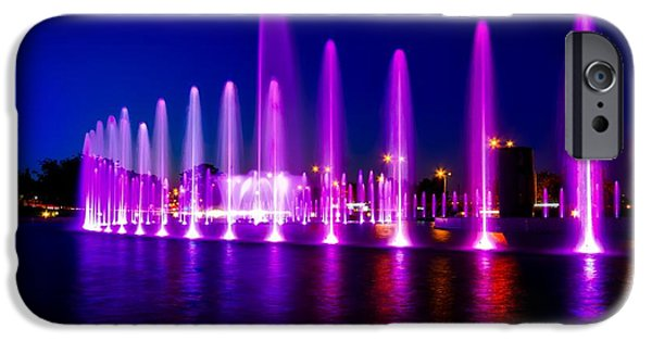Multimedia Fountain Park - Warsaw IPhone Case by Skitterphoto