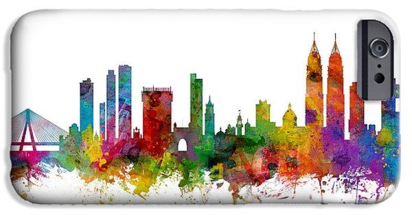 Mumbai Skyline India Bombay IPhone Case by Michael Tompsett