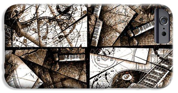 Music Box I Sepia IPhone Case by Gary Bodnar
