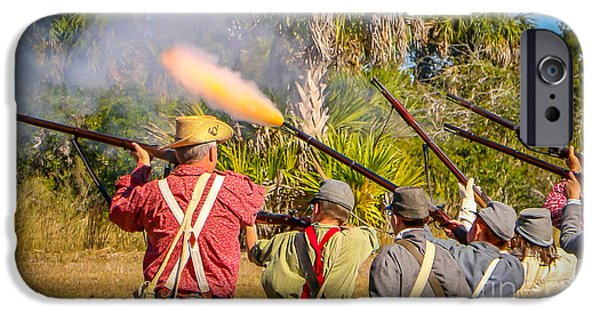 Musket Fire IPhone Case by Tom Claud
