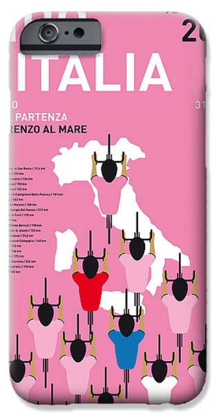 My Giro D'italia Minimal Poster Percorso 2015 IPhone Case by Chungkong Art