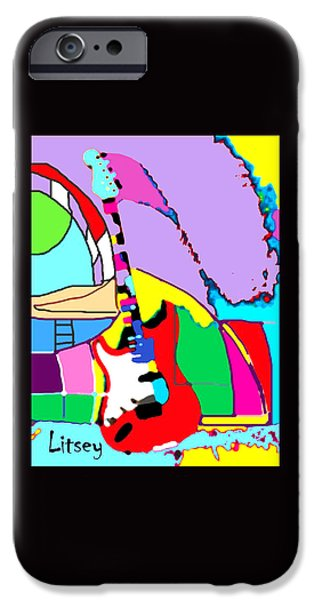 My Guitar Gently Weeps IPhone Case by International Artist Brent Litsey