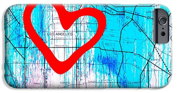 My Heart Lies In Los Angeles IPhone Case by Brandi Fitzgerald