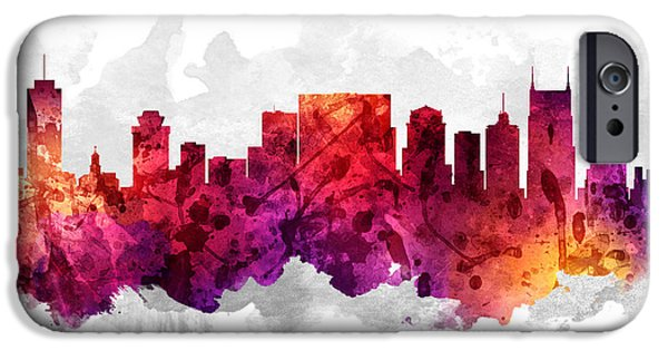 Nashville Tennessee Cityscape 14 IPhone 6s Case by Aged Pixel