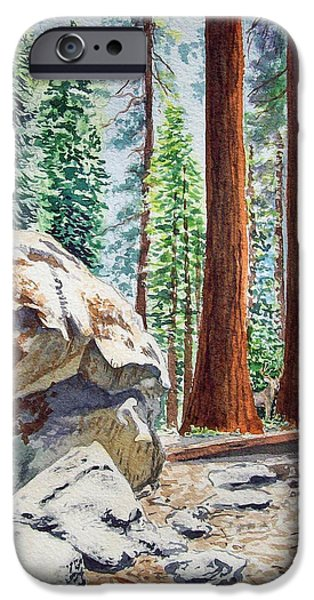National Park Sequoia IPhone Case by Irina Sztukowski