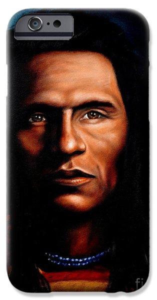 Native American Indian Soaring Eagle IPhone Case by Georgia Doyle  brushhandle