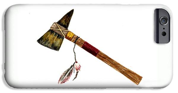 Native American Tomahawk IPhone Case by Michael Vigliotti