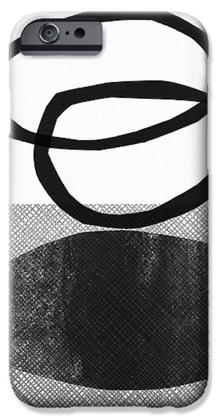Natural Balance- Abstract Art IPhone Case by Linda Woods