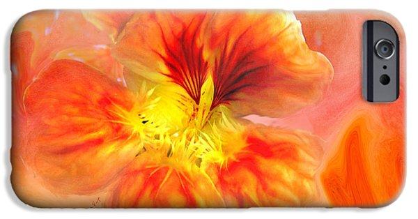 Naturally Nasturtium Paint IPhone Case by Anita Faye