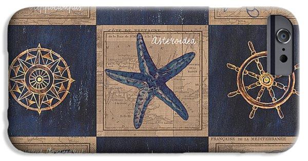 Nautical Burlap IPhone Case by Debbie DeWitt