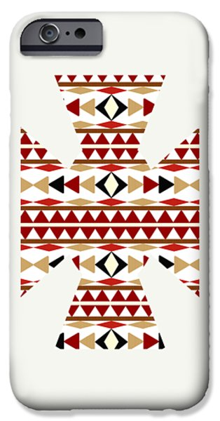 Navajo White Pattern Art IPhone 6s Case by Christina Rollo