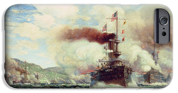 Naval Battle Explosion IPhone Case by James Gale Tyler