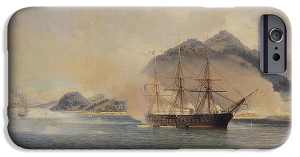 Naval Battle Of The Strait Of Shimonoseki IPhone Case by Jean Baptiste Henri Durand Brager