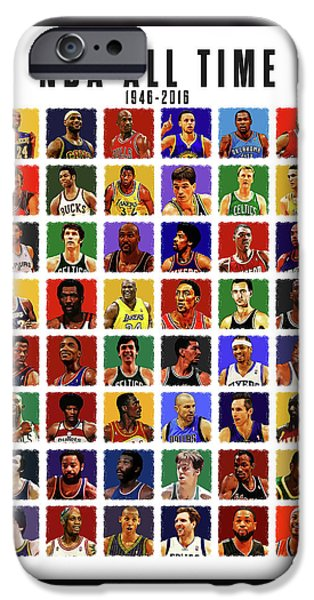 Nba All Times IPhone Case by Semih Yurdabak