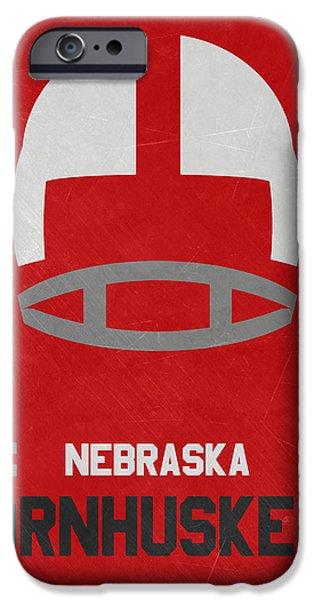 Nebraska Cornhuskers Vintage Art IPhone Case by Joe Hamilton