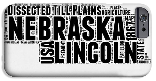 Nebraska Word Cloud 2 IPhone 6s Case by Naxart Studio