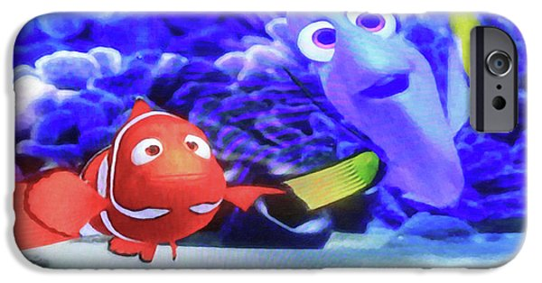 Nemo And Dory IPhone Case by Donna Kennedy