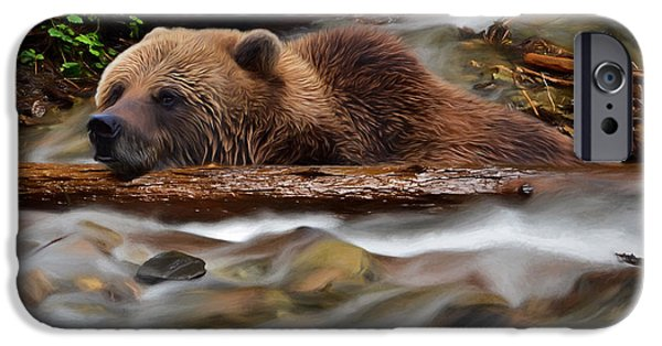 Never Give Up - Wilderness Art IPhone Case by Jordan Blackstone