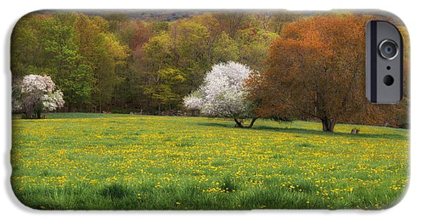 New England Color Of Spring IPhone Case by Bill Wakeley