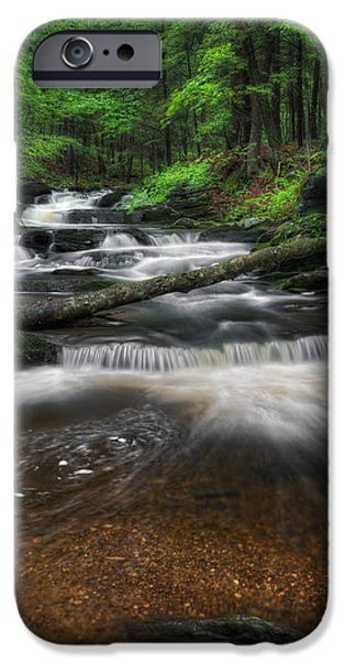 New England Mountain Stream Portrait IPhone Case by Bill Wakeley