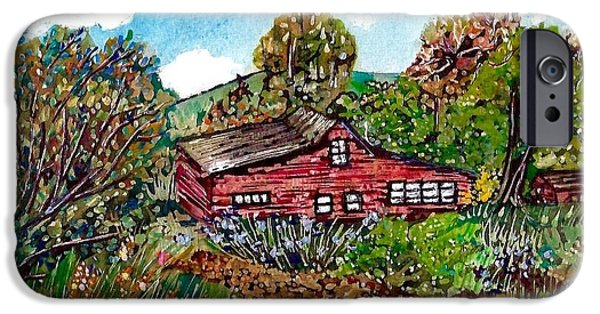 New Mexico Red House  IPhone Case by M E Wood