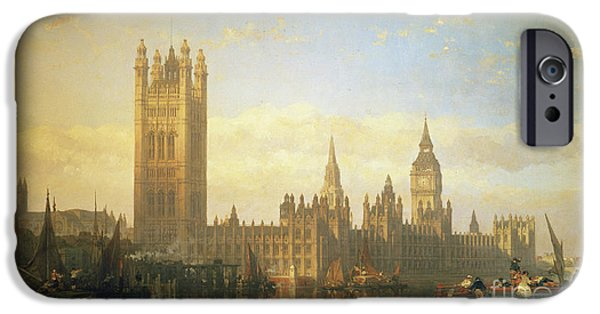 New Palace Of Westminster From The River Thames IPhone 6s Case by David Roberts