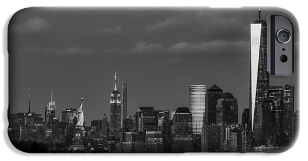 New York City Icons Bw IPhone Case by Susan Candelario
