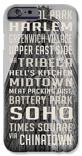 New York City Subway Stops Flat Iron Building IPhone 6s Case by Edward Fielding