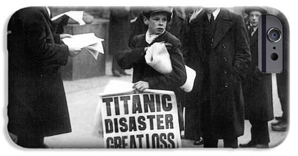 Newsboy Ned Parfett Announcing The Sinking Of The Titanic IPhone Case by English School