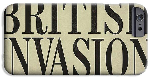 Newspaper Headline British Invasion IPhone Case by Mindy Sommers