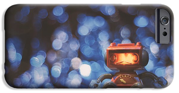 Night Falls On The Lonely Robot IPhone Case by Scott Norris