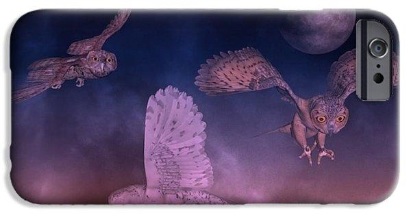 Night Owls IPhone Case by Betsy C Knapp