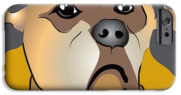 Niki Boxer Dog Portrait IPhone Case by Robyn Saunders