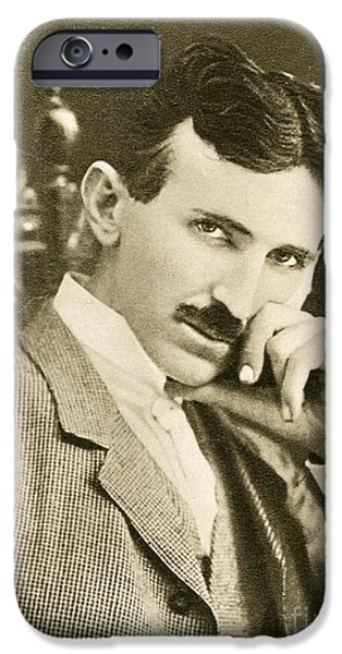 Nikola Tesla, Serbian-american Inventor IPhone Case by Photo Researchers