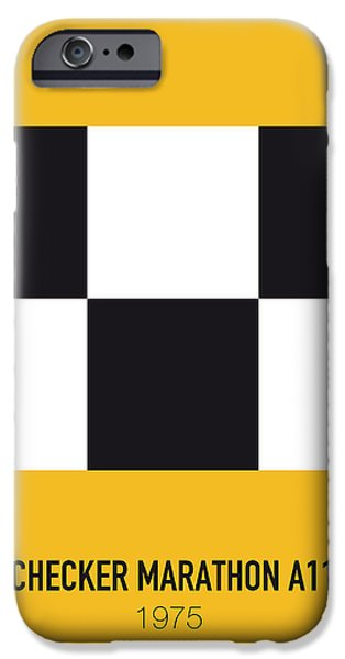 No002 My Taxi Driver Minimal Movie Car Poster IPhone Case by Chungkong Art