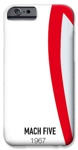 No008 My Speed Racer Minimal Movie Car Poster IPhone Case by Chungkong Art