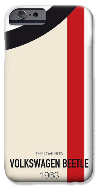 No014 My Herbie Minimal Movie Car Poster IPhone Case by Chungkong Art