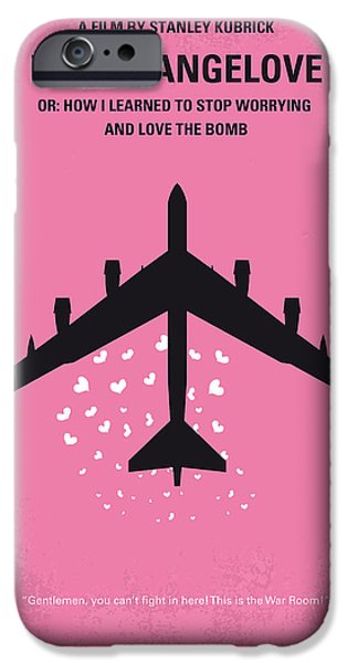 No025 My Dr Strangelove Minimal Movie Poster IPhone Case by Chungkong Art