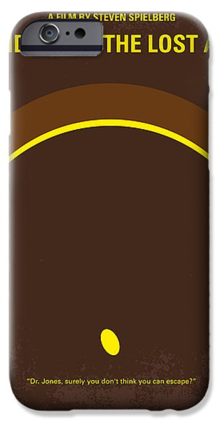 No068 My Raiders Of The Lost Ark Minimal Movie Poster IPhone Case by Chungkong Art