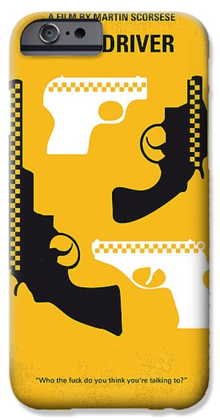 No087 My Taxi Driver Minimal Movie Poster IPhone Case by Chungkong Art
