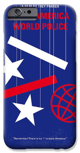 No475 My Team America Minimal Movie Poster IPhone Case by Chungkong Art