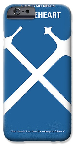 No507 My Braveheart Minimal Movie Poster IPhone Case by Chungkong Art