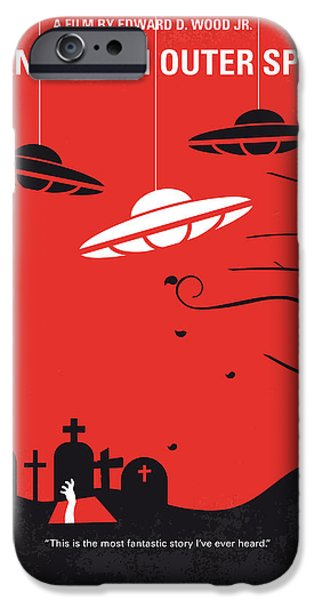 No518 My Plan 9 From Outer Space Minimal Movie Poster IPhone Case by Chungkong Art